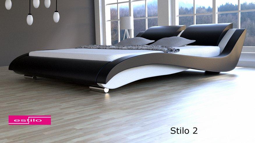 łóżko Do Sypialni Stilo 2 Skóra Naturalna 200x220