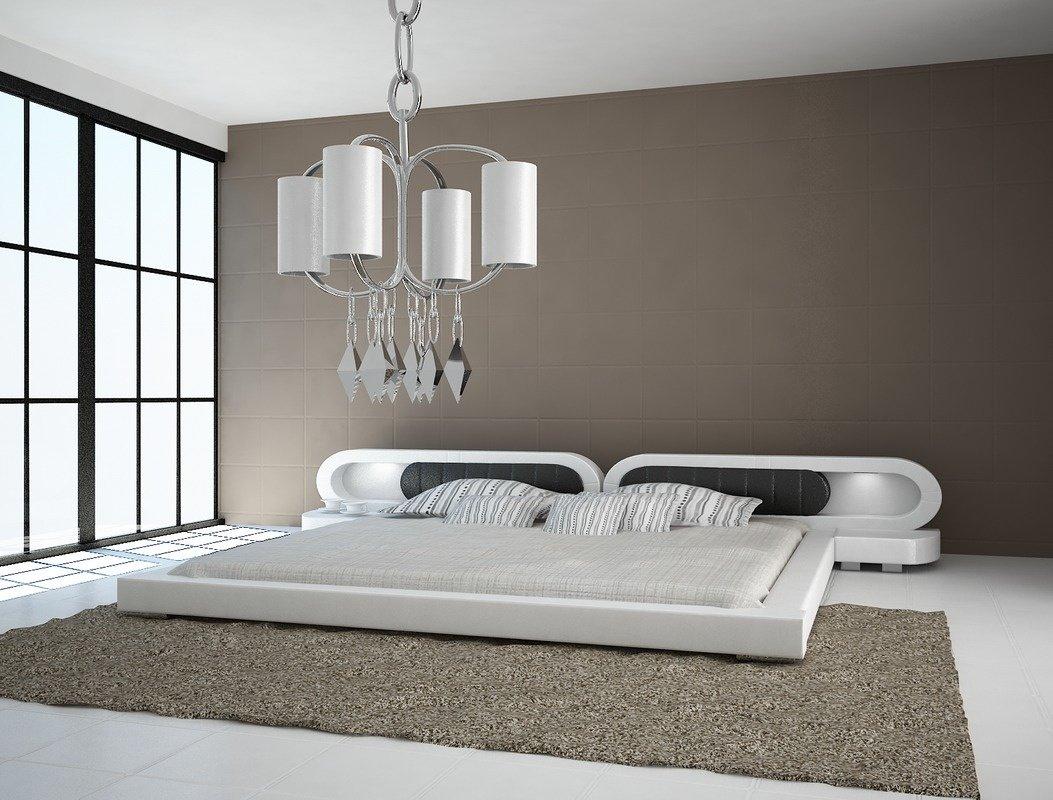 łóżko Do Sypialni Harmony 2xled Skóra Naturalna 140x200