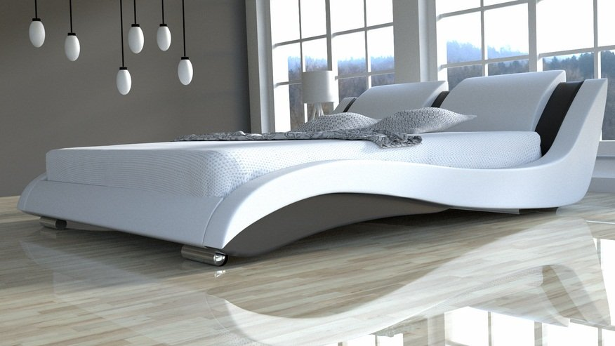 Komplet łóżko Do Sypialni Stilo 2 Slim Z Materacem 7 Stref