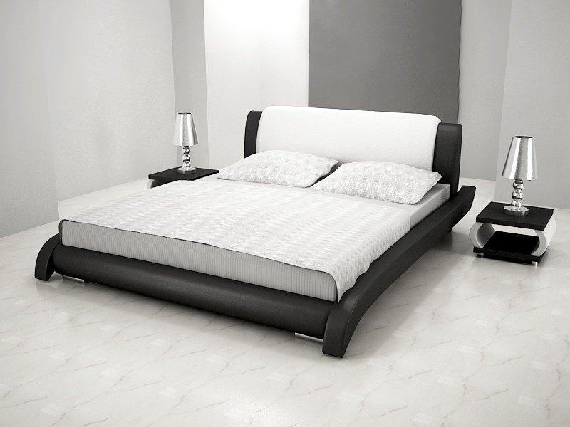 łóżko Do Sypialni Lotos Skóra Ekologiczna